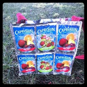 Repurposed/ Upcycled Juice Pouch Tote Bag